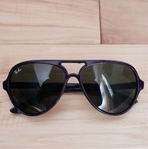 Ray-Ban Cats 5000 Purple Plastic Frame Aviators